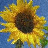 Sunflower Glass Mosaic Generated Texture