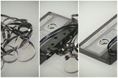Cassette tape music 70's,80's,90's nostalgia concept image