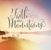 stock photo of faithfulness  - Inspirational Typographic Quote  - JPG