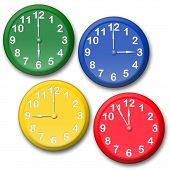 Colour clocks