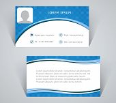 Business Card, Simple Pattern Of Blue Color
