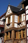 MILTENBERG, GERMANY - 20 JULY:  Half-timbered old house in Miltenberg, Lower Franconia, Bavaria, Ger