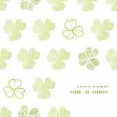 clover geometric textile textured frame corner pattern background