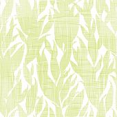 Green leaves textile texture seamless pattern background