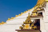 pic of tabernacle  - Maharzayde pagoda on blue sky background - JPG