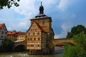 Town hall on the bridge Bamberg Bavaria