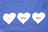 Valentine Text Hearts