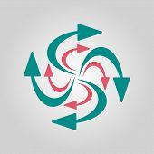 Swirling Arrows Icon