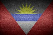 Closeup Screen Antigua And Barbuda Flag Concept On Pvc Leather For Background