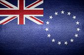 Closeup Screen Australia Flag Concept On Pvc Leather For Background