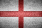 England Flag On Pvc Leather Background.