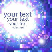 Abstract Shimmering Background In Blue Colors With Place For Your Text