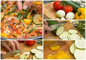Collage Of Cooking Ratatouille