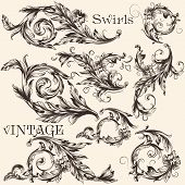 Collection Of Vector Vintage Decorative Flourishes