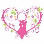 Wedding Silhouette Decorative Template