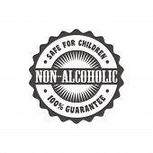 non alcoholic label sticker