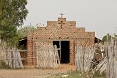 simple brick and mortar church in South Sudan