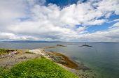 Beautiful landscape coastline of Munkholmen, Trondheim, Norway