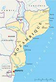 Mozambique Political Map