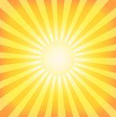 Sun Sunburst Pattern. Retro Background