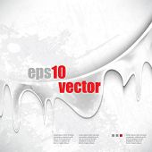 eps10 vector transparent dripping ink grunge background