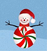 Christmas snowman with peppermint tummy