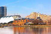 Inner Harbor of Baltimore in winter.