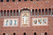 Milan. Main entrance to the Sforza's castle