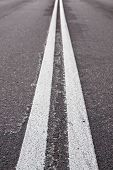 Double White Lines On Road