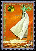 Vintage  Postage Stamp. Sailing.