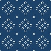 Hand drawn seamless indigo folk pattern