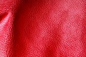 Texture Of Folds Vivid Red Skin Leather Background