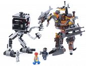 Ankara, Turkey - February 15, 2014 : Studio shot of Lego Movie Metalbeard's duel isolated on white b