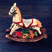 Vintage Ceramic Toy Horse
