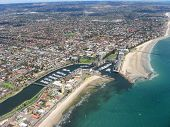 Aerial view of Glenelg Beach