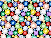 Pattern of precious stones