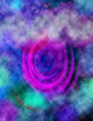stock photo of trippy  - A colorful abstract image of a cloudy background and a spiral - JPG