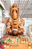 Durga Idol, Art Work,  Indian Handicrafts Fair At Kolkata