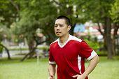 Running Sport Man In The Park