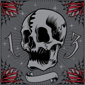 Skull and Roses Frame