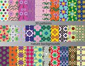 thirty patterns backgrounds