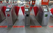 Ticket Reading Machines At Kaohsiung Subway
