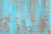 Blue old wooden background