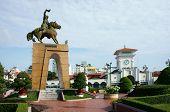 Tran Nguyen Han Statue At Ben Thanh Market