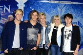 LOS ANGELES - NOV 19: R5 at the premiere of Walt Disney Animation Studios' 'Frozen' at the El Capitan Theater on November 19, 2013 in Los Angeles, CA