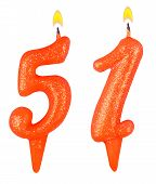 Birthday Candles Number Fifty One