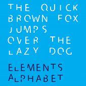 Inividual Alphabet Characters Of A Custom Font - Elements Uppercase