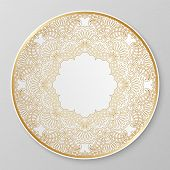 Gold Decorative Plate.