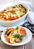 Courgette And Tomato Bake