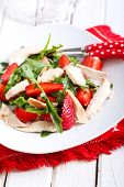 pic of rocket salad  - strawberry rocket and chicken salad on plate - JPG